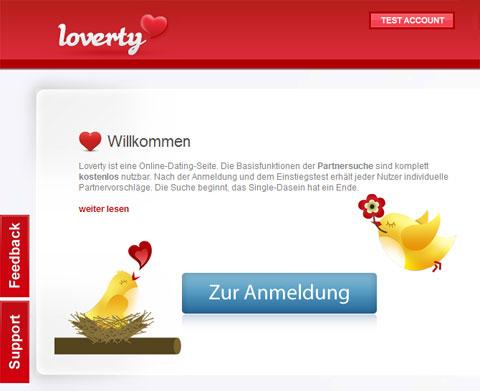 Partnersuche kostenlos bei Loverty
